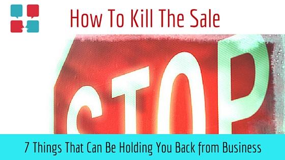 Kill the Sale blog title